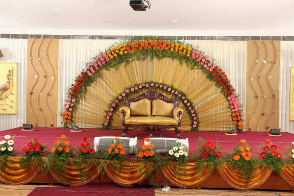 Telugu hindu wedding black book for the indian bride for Hall decoration images