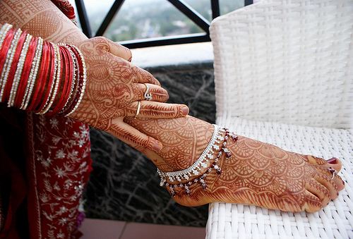 anklets - indian bridal adornments